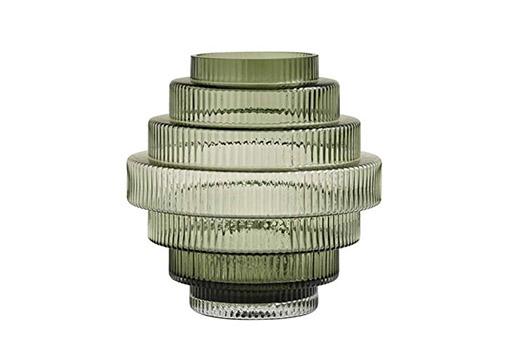 Nordal Vase Rill Grün Handarbeit Glas