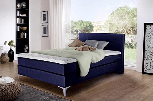 Boxspringbett Phili mit Bettkasten blau