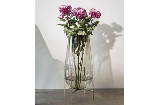 Echasse Vase rauchglas gold