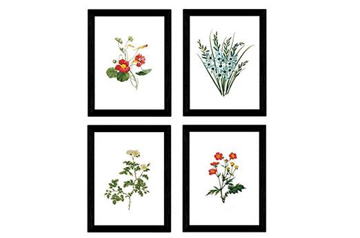 A4 Poster Blumen bunt