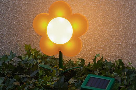 SOLVINDEN Solar-Erdspieß Blume gelb