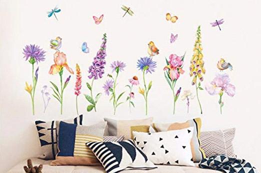 Frühling Blume Wandaufkleber bunt