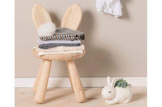 Nordic Kaninchen Stuhl, Holz