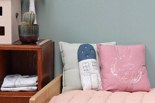 Camomile London Kissen Haus Petit Kornblume blau