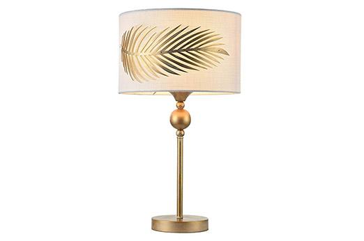 Tischleuchte Farnblatt Metall gold