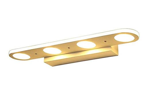 LED Spiegelleuchte gold
