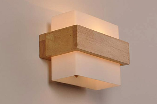 LED Wandleuchte Modern holz / weiß