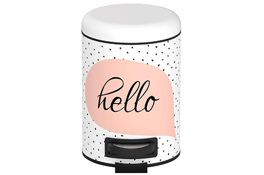Kosmetikeimer hello weiß / rosa