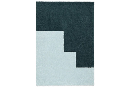 KONGSTRUP Teppich hellblau grün 133x195 cm