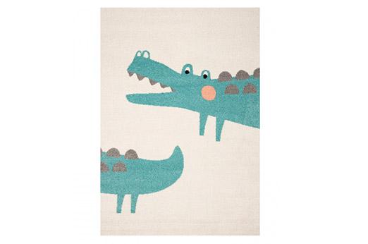 Kinderteppich Crocodile Jim Creme / Türkis
