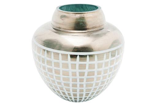 vase square blau