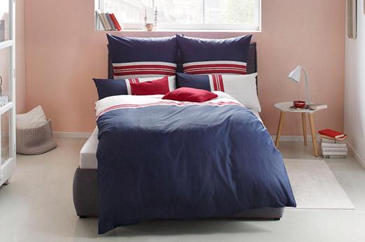 Bettwäsche Diego blau rot