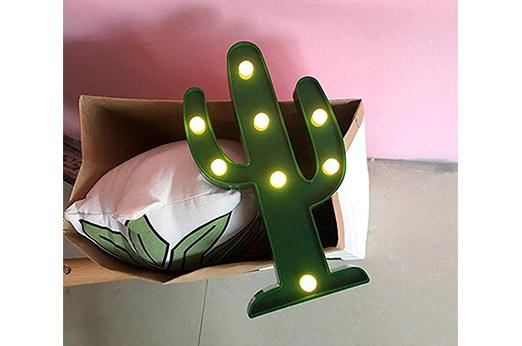 Kaktus LED Tischlampe grün
