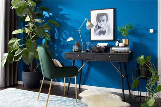 Schreibtisch Moyo schwarz