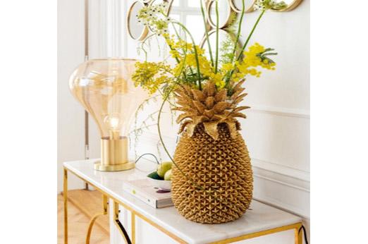 Vase Pineapple 50cm messing