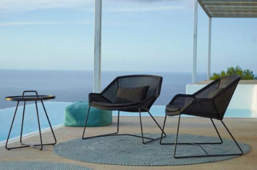 Cane-Line Lounge Sessel schwarz