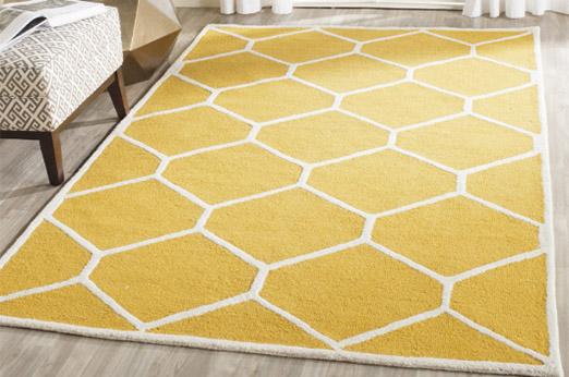 Teppich Lulu gelb