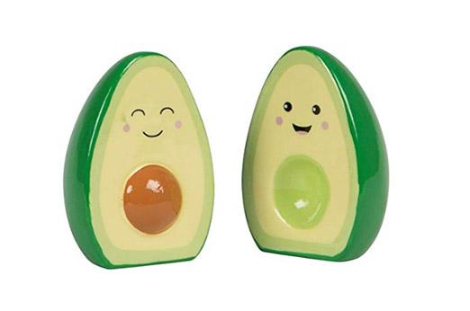 Happy Avocado Salz- und Pfefferstreuer grün