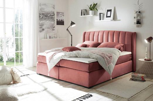 Boxspringbett Malvinas rosa