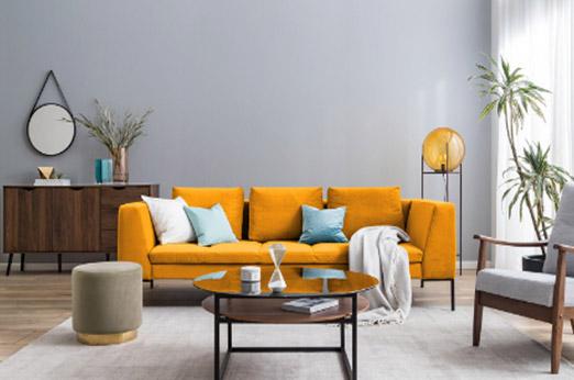 Sofa Madison (3-Sitzer) Samt gelb