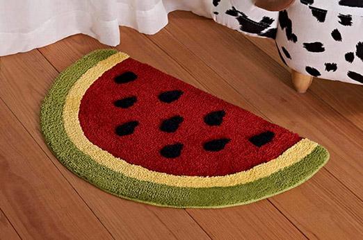 Badematte Wassermelone Rot Früchte
