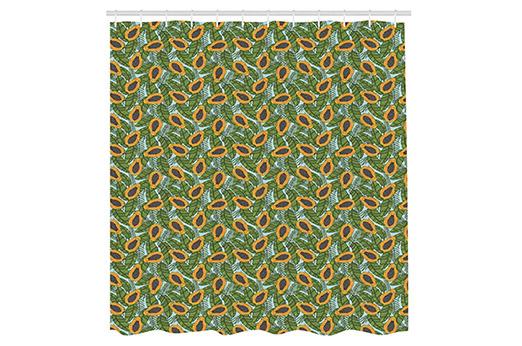 Papaya Duschvorhang grün & gelb