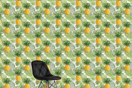Tapete Kennedy Ananas gelb grün Früchte