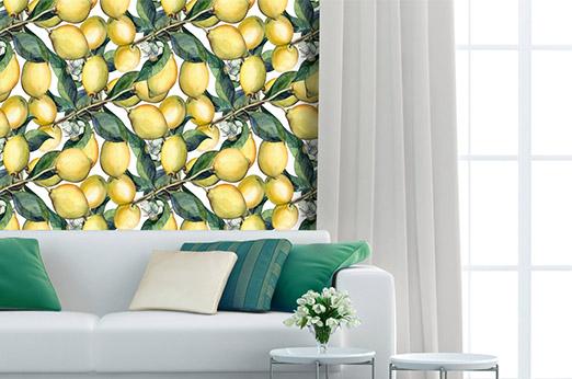 Tapete Zitronen gelb Früchte