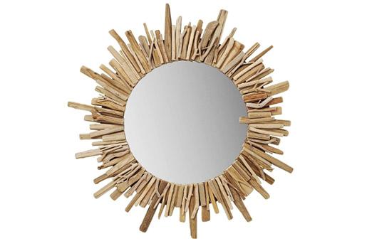 Sonnen Spiegel Legno natur