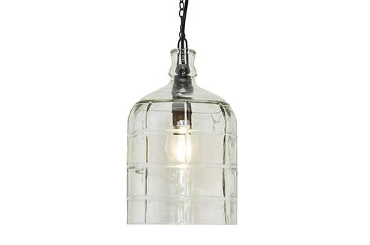 Pendelleuchte im Flaschendesign glas