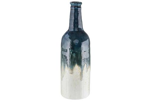 Vase keramik blau creme