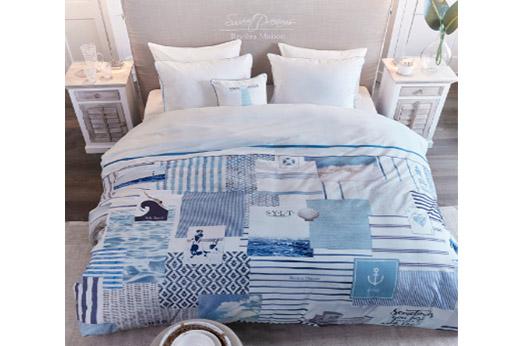 Bettwäsche Sylt Beach blau