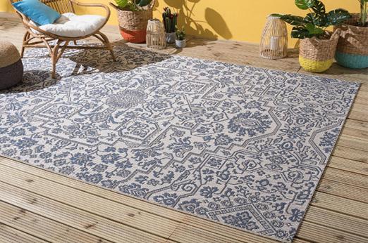 In-/Outdoorteppich Ferna blau