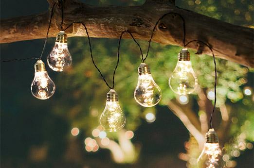 Lichterkette Bulb transparent
