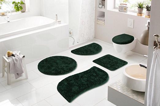 Badematte Merida grün rechteckig 70x110 cm