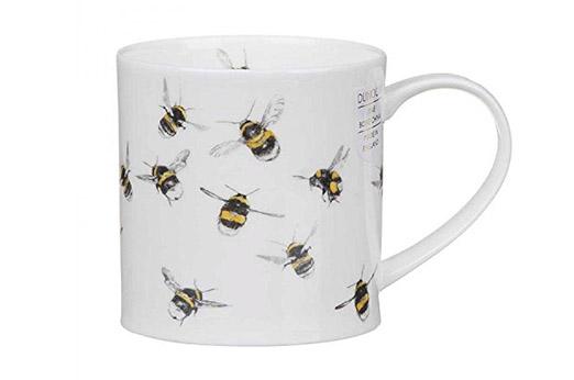 Tasse Bienen weiß gelb