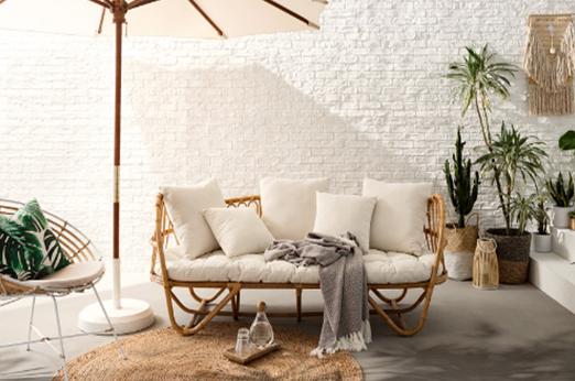Sofa Cassel bambus natur