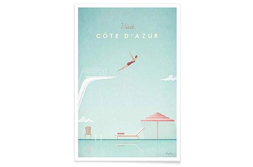 """JUNIQE® Reise Poster 60x90cm """"Côte d"""
