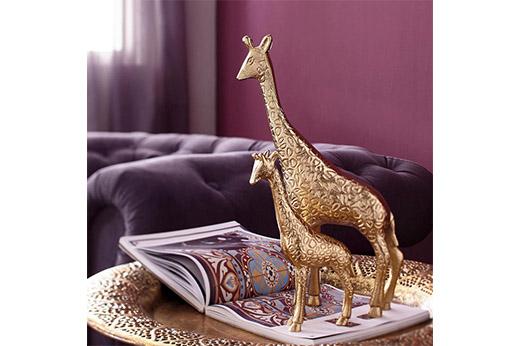 Deko Giraffe gold