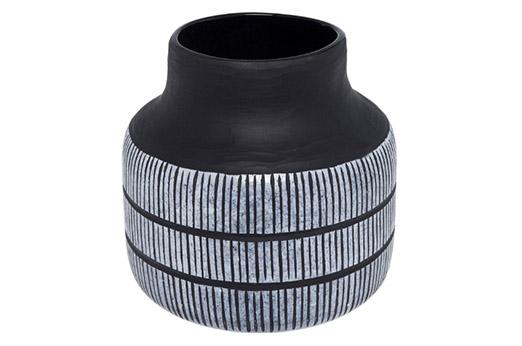 Vase Africano 26cm schwarz
