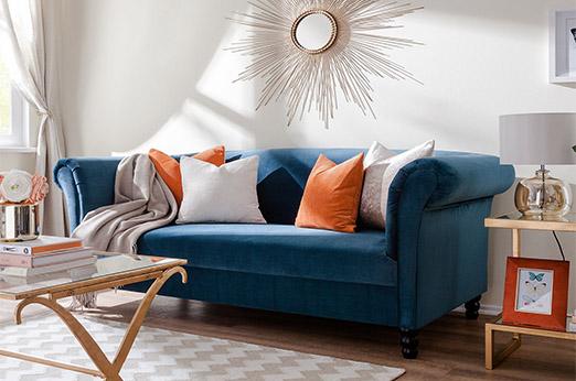 Sofa Aviva (2-Sitzer) blau