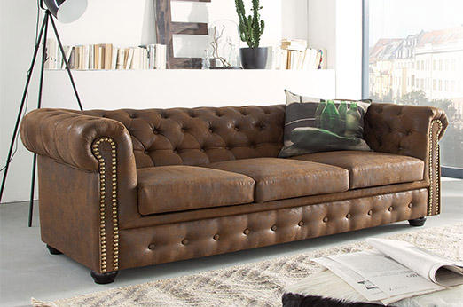 Sofa Torquay (3-Sitzer) braun