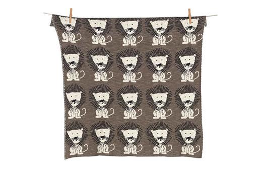 Quax Babydecke Baumwolle Löwe braun