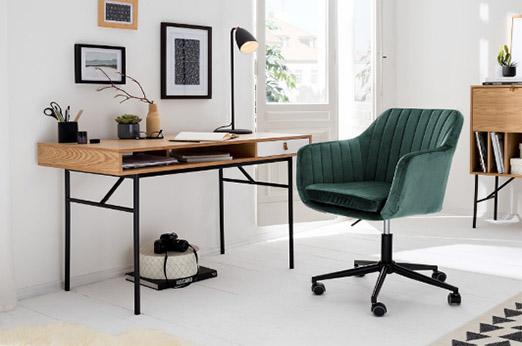Bürodrehstuhl Leezy grün schwarz