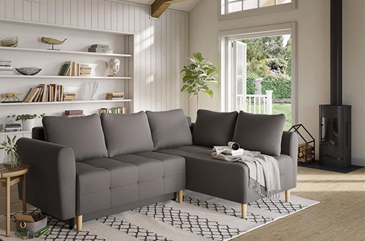 Home affaire Ecksofa »Nordic« grau