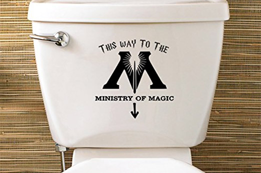 WC-Sticker Harry Potter inspiriert Ministry of Magic