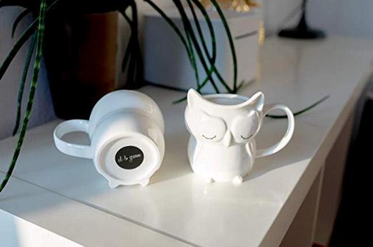 3D Eulen Tasse in weiß 250 ml
