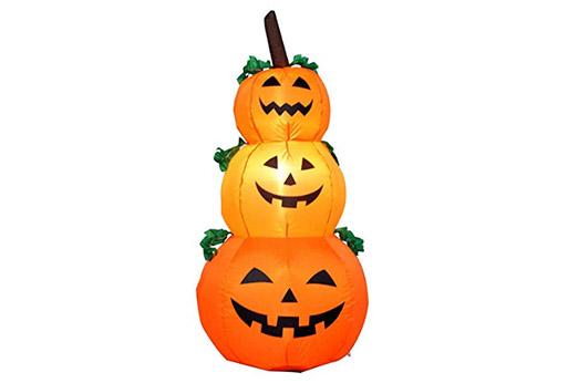 Aufblasbare Halloween Dekoration Kürbis Patch 120cmx40cm, Orange