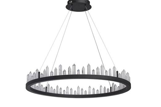 LED-Kronleuchter Kristalle 1-flammig schwarz