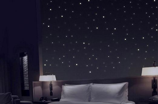 Sternenhimmel aus 368 Leuchtpunkten mit starker Leuchtkraft
